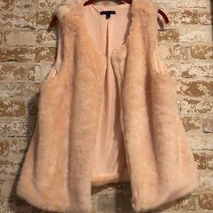Signature Studio Faux Fur Vest Lt Peach Sz XL Soft